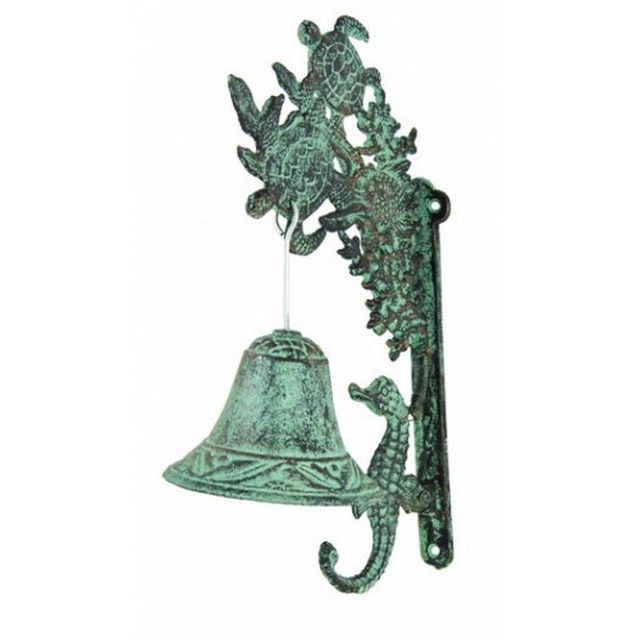 Seaworn Cast Iron Turtles and Seahorse Bell 12