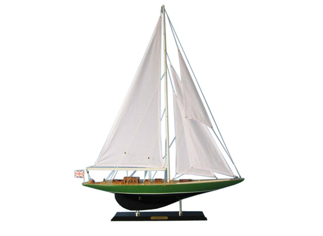 Wooden Shamrock IV Limited Model Sailboat Decoartion 35