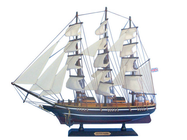 Wooden Cutty Sark Tall Model Clipper Ship 20