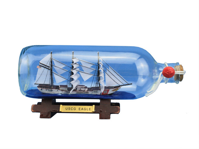 USCG Eagle Ship In A Bottle 9