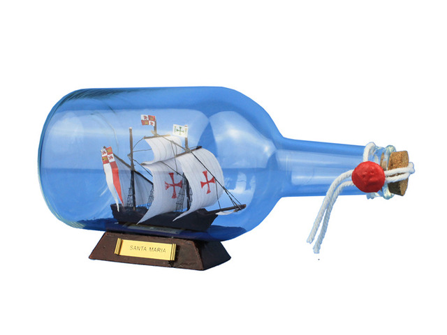 Santa Maria Ship in a Bottle 9