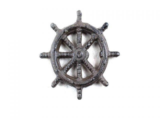 Cast Iron Ship Wheel Bottle Opener 3.75