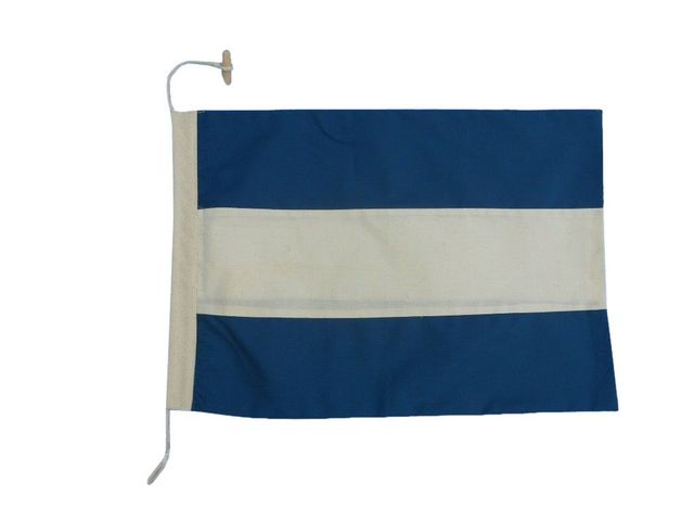 Letter J Cloth Nautical Alphabet Flag - 20