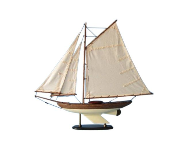 Wooden Fine Sailing Sloop Model Decoration 26