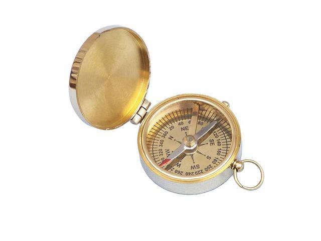 Solid Brass Magellan Compass 2