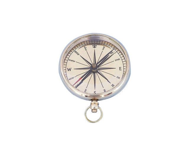 Solid Brass Lensatic Compass 3