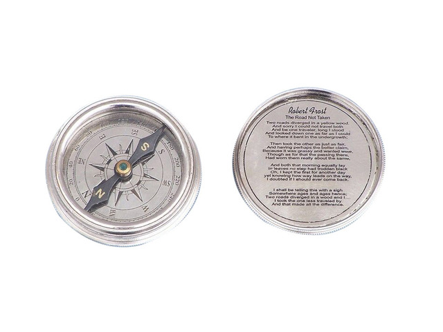 Chrome Clinometer Compass Paperweight 3