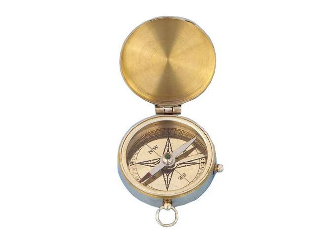 Solid Brass Lewis and Clark Pocket Compass 3