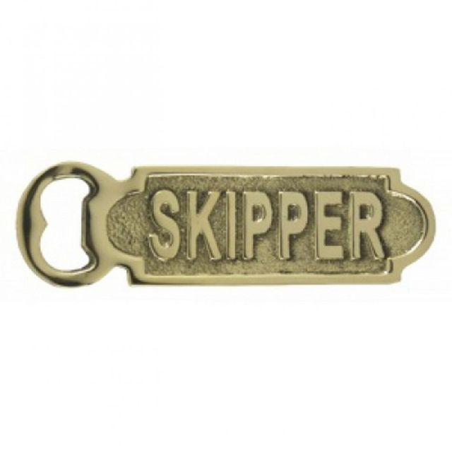 Solid Brass Skipper Bottle Opener 5