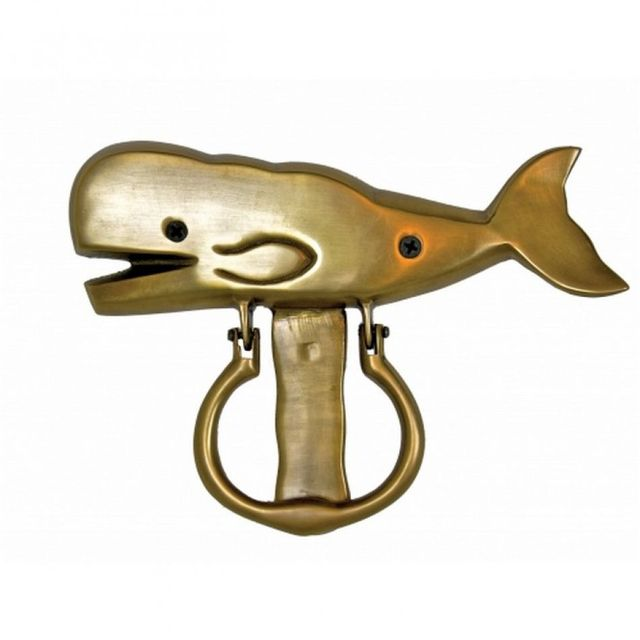Solid Brass Whale Door Knocker 8