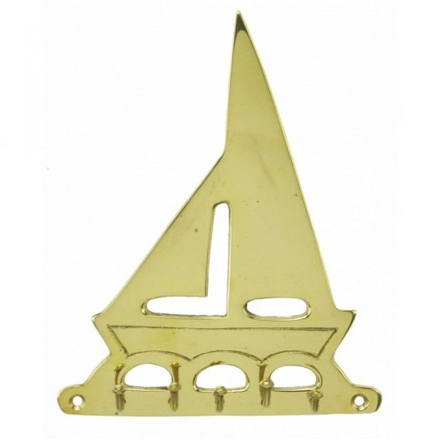 Solid Brass Sailboat Key Rack 7
