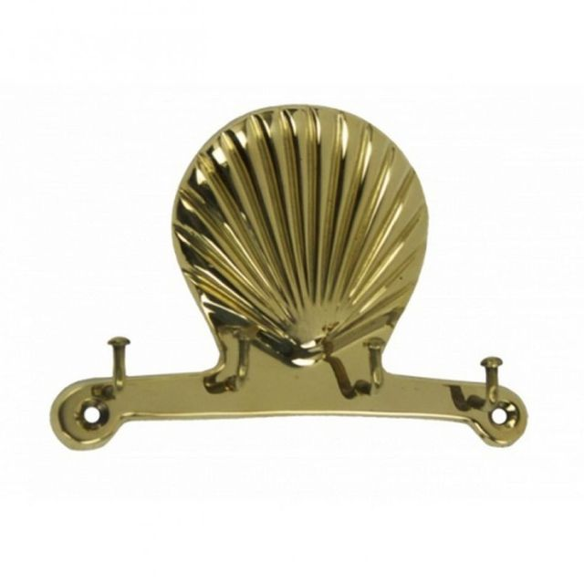 Solid Brass Scallop Key Rack 5