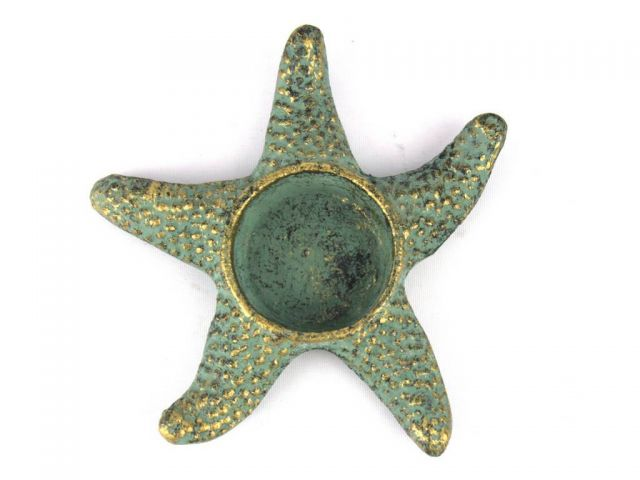 Antique Bronze Cast Iron Starfish Decorative Tealight Holder 4.5