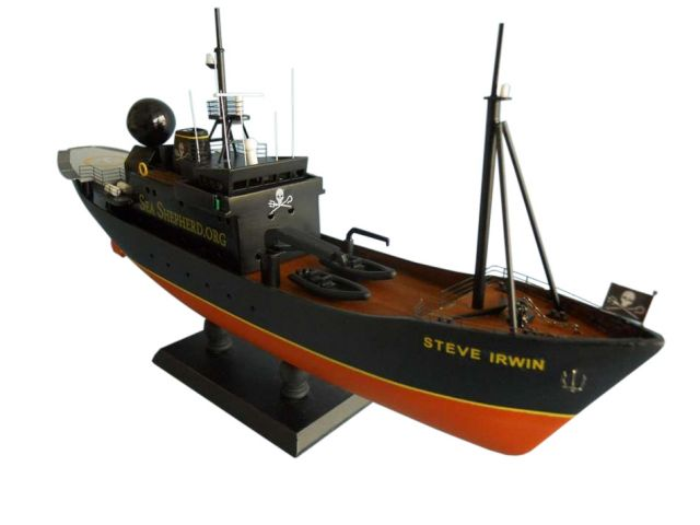Whale Wars - Steve Irwin Limited Model Boat 14 50% profits donated to seashepherd.org