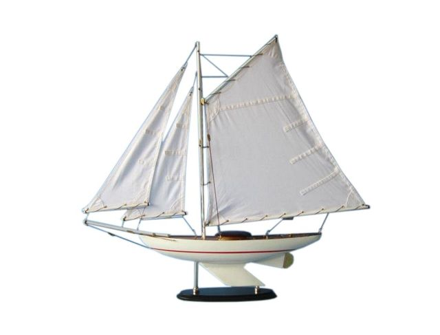 Wooden Sunrise Sailing Sloop Model Decoration 26