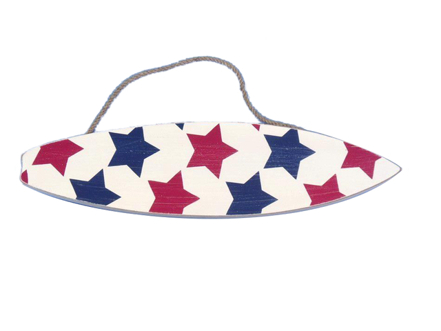 Wooden Stars Surfboard Sign 13