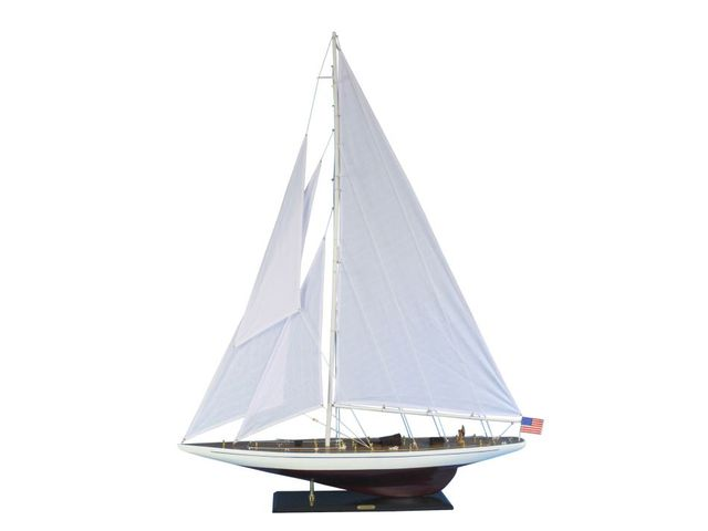 Wooden Ranger Model Sailboat Decoration 60