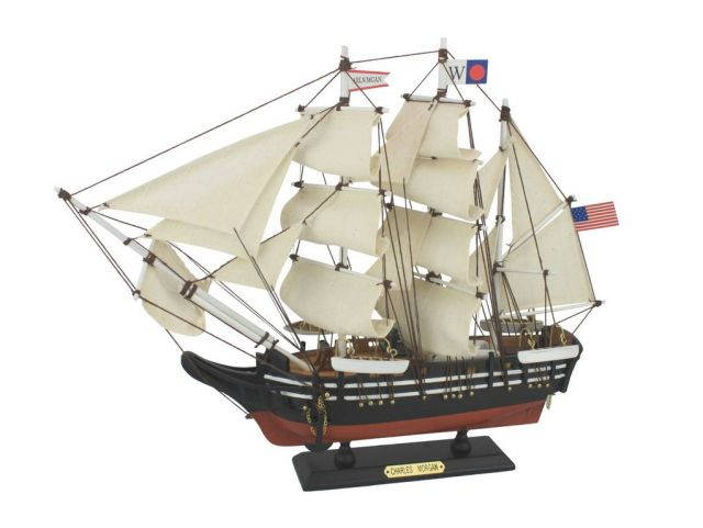 Wooden Charles W. Morgan Model Whaling Boat 15