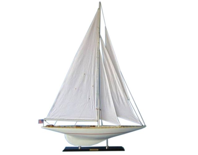 Wooden Intrepid Limited Model Sailboat Decoration 50