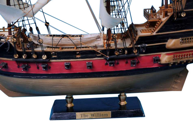 Calico Jackandapos;s The William Model Pirate Ship 24 - White Sails