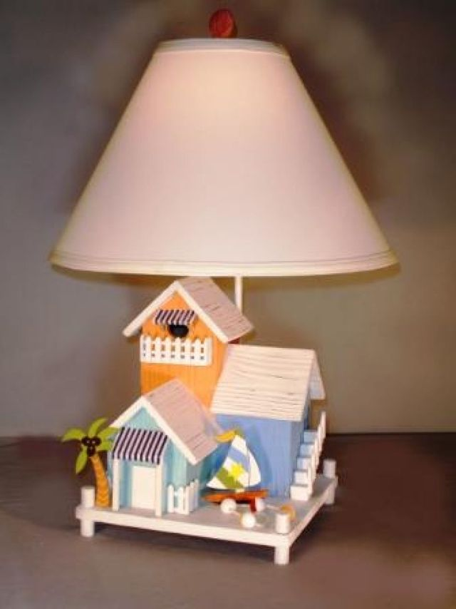 Three Beach House Electric Lamp 25
