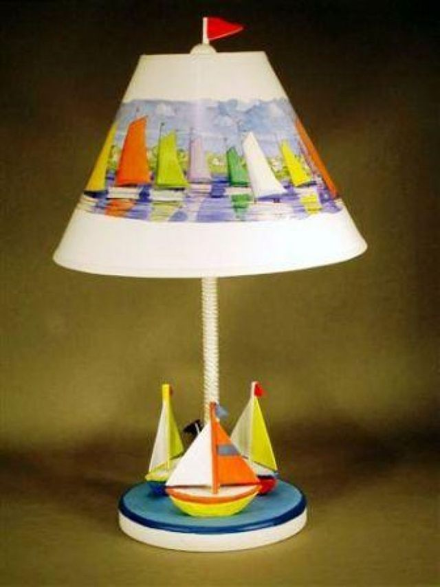 Three Sailboat Electric Lamp 23