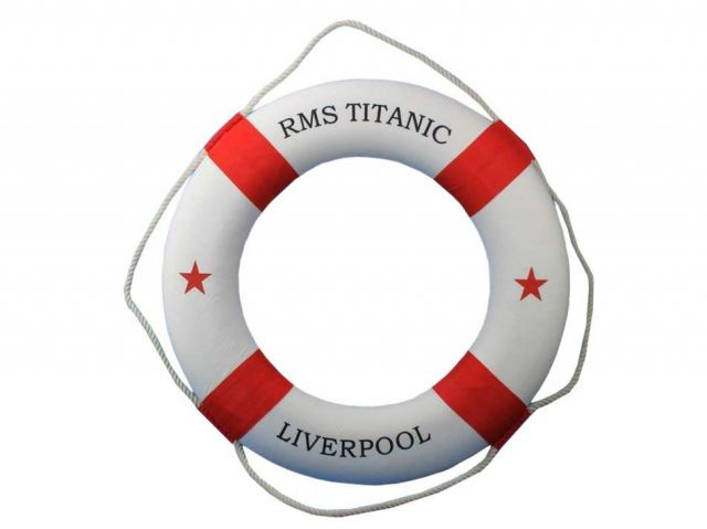 RMS Titanic Decorative Lifering 20 - Red