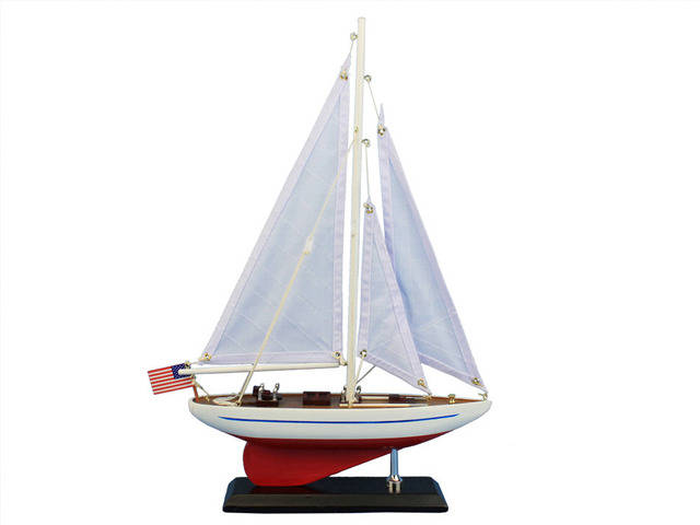 Wooden Ranger Model Sailboat Decoration 16