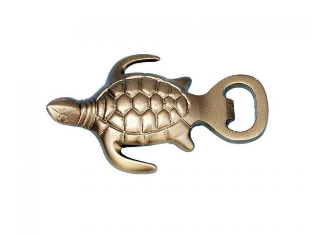 Antique Brass Turtle Bottle Opener 5