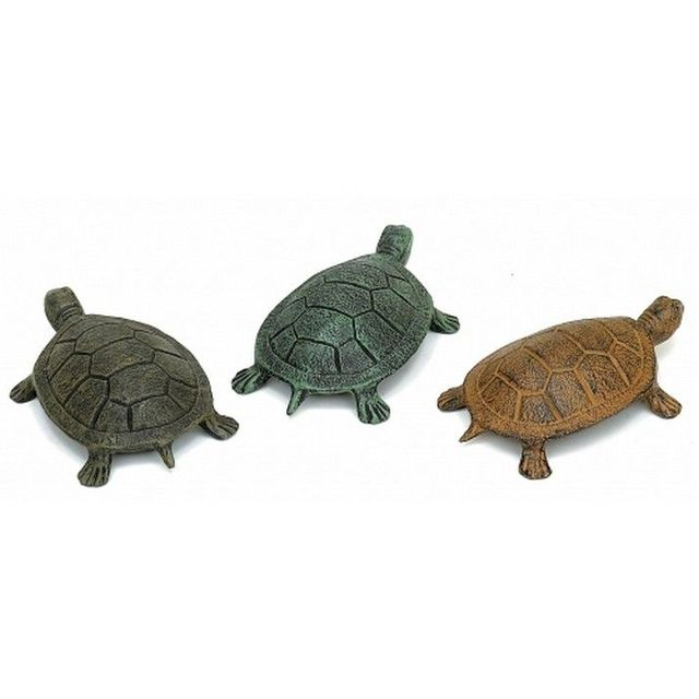 Set of 3 - Rustic Cast Iron Sea Turtles 5
