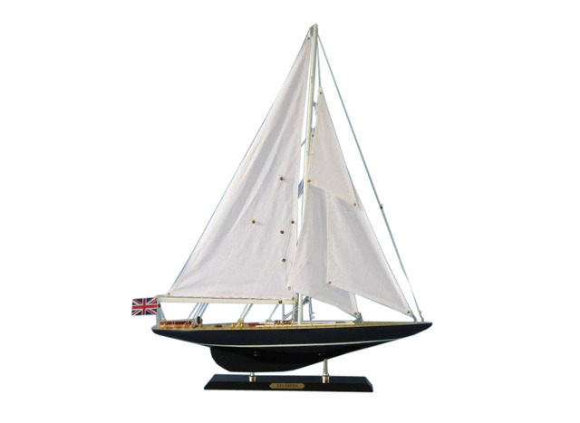 Wooden Velsheda Limited Model Sailboat Decoration 27