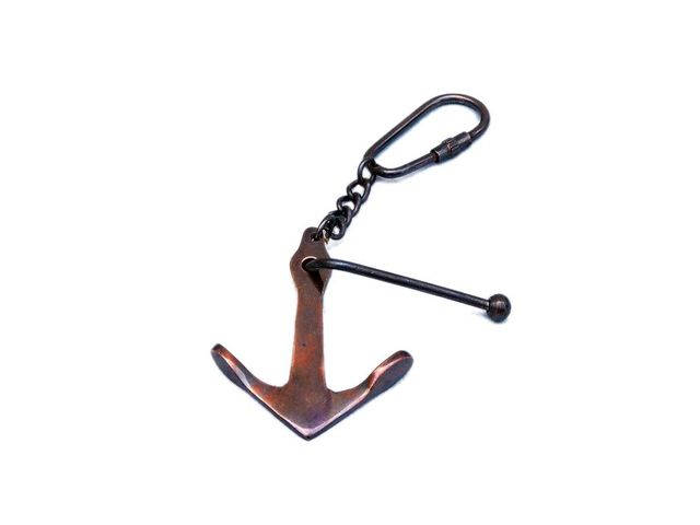 Antique Copper Admiralty Anchor Key Chain 6