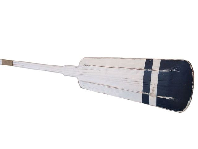 Wooden Stone Harbor Squared Rowing Oar with Hooks 62