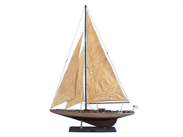 Wooden Vintage Ranger Limited Model Sailboat Decoration 35