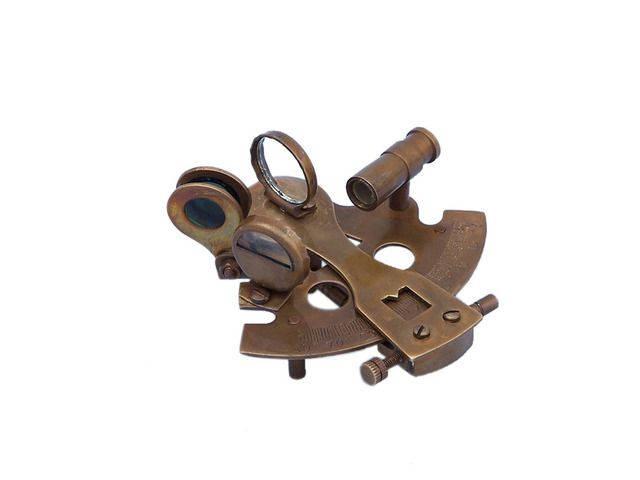 Antique Brass Decorative Sextant Paperweight 3
