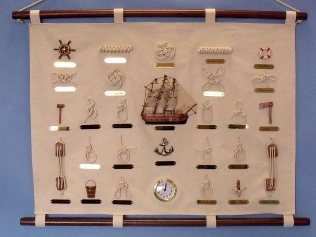 Sailors Knot Sampler w-Clock 30
