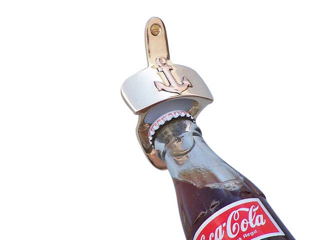 Solid Brass Wall Mounted Anchor Bottle Opener 3