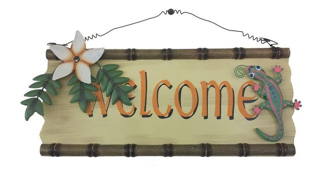 Wood and Tin Welcome Sign 14
