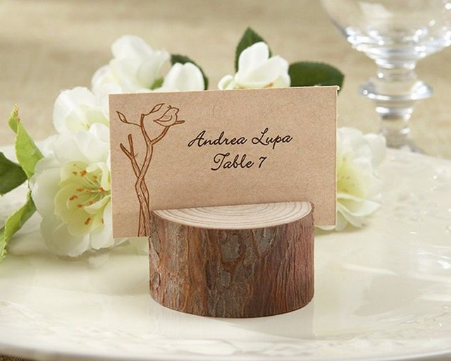 Set of 4 - Rustic Wood Placecard and Photo Holder 1