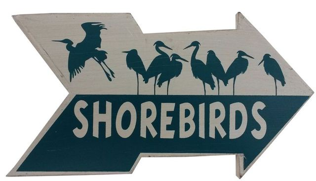 Wooden Arrow Shorebirds Beach Sign 10