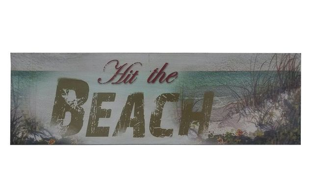 Wooden Rustic Hit the Beach Sign 24