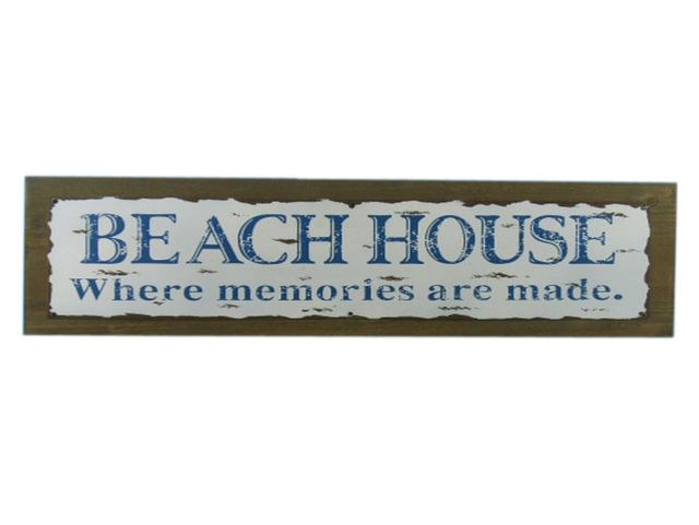Wooden Rustic Beach House Where Memories are Made Sign 20