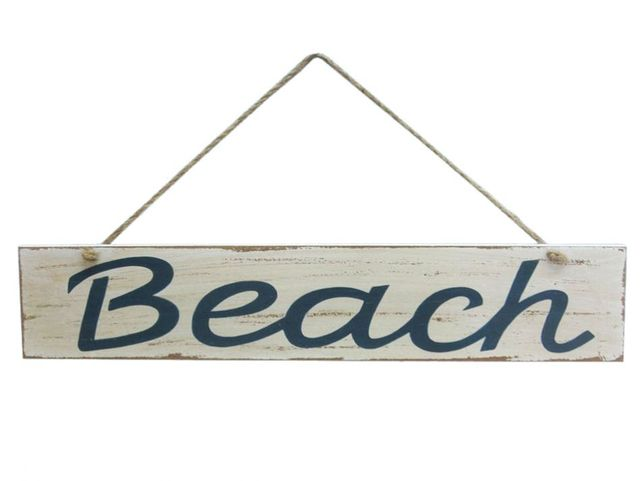 Wooden Rustic Beach Sign 14