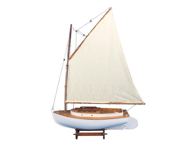 Wooden Cape Cod Cat Limited Model Sailboat Decoration 30