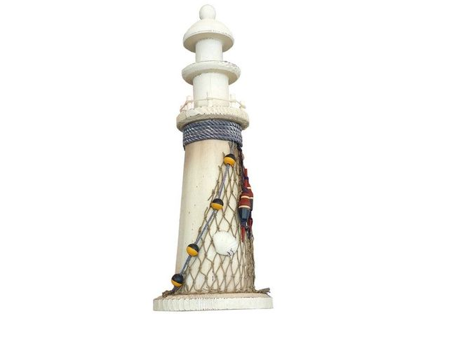 Wooden Buoy and Shell Netted Lighthouse 12