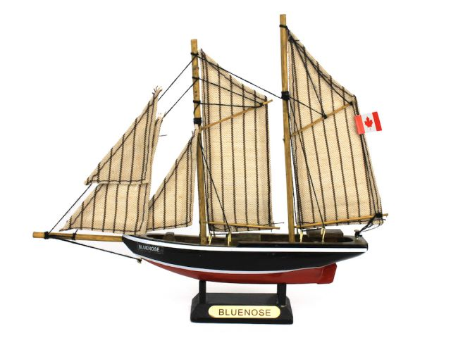 Wooden Bluenose Model Sailboat Decoration 7