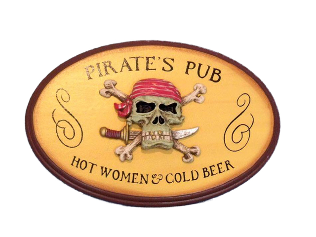 Wooden Pirates Pub Sign 10
