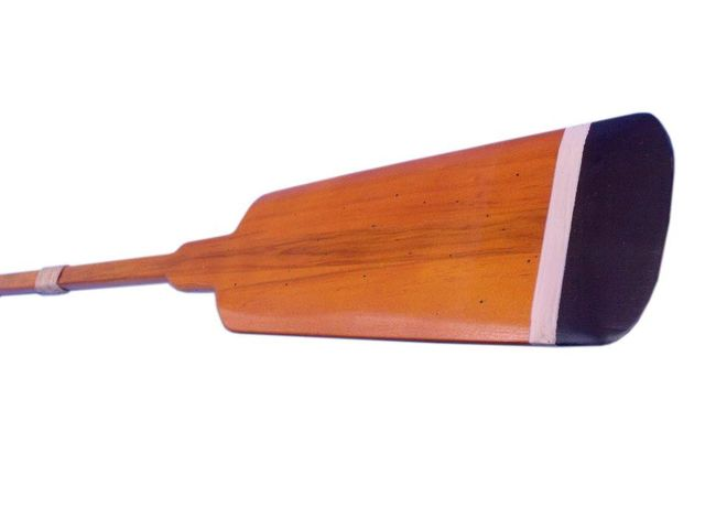 Wooden Huntington Squared Decorative Rowing Boat Oar w- Hooks 36