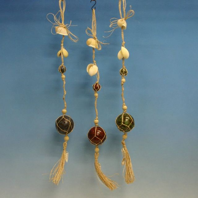 Set of 3 - Nautical Ball And Shell Garland 30
