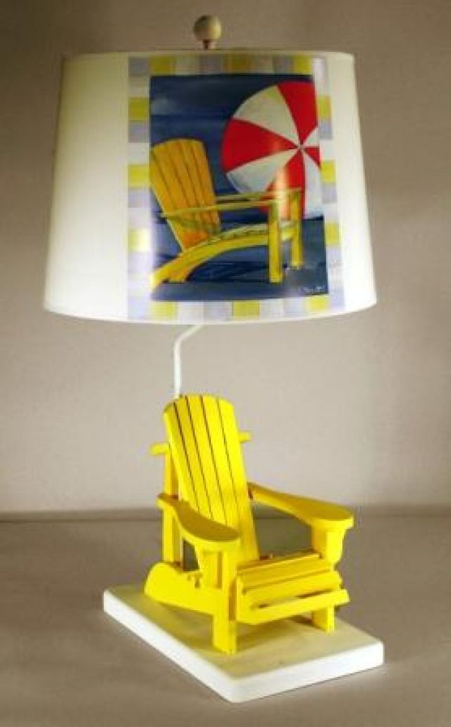 Yellow Beach Chair Electric Lamp 29